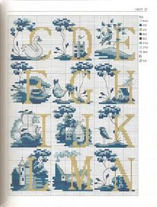 Схема вышивки крестом буквы