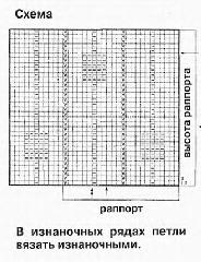 схема вязания для топа
