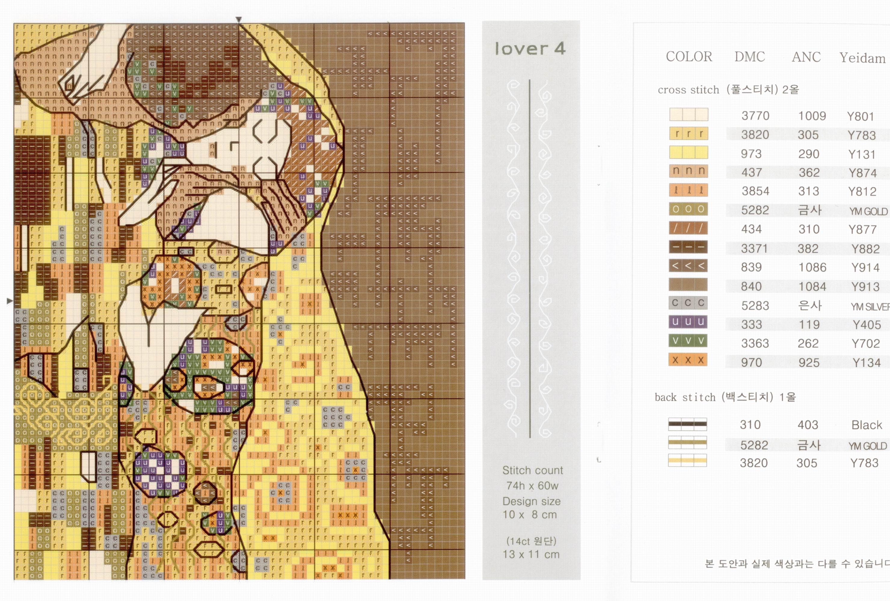 Схема вышивки густав климт