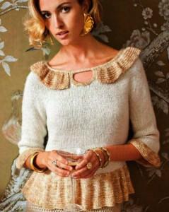 Вязаный женский пуловер