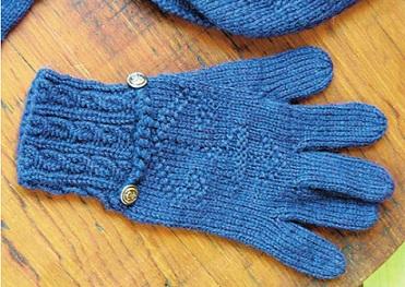 Мужские вязаные перчатки