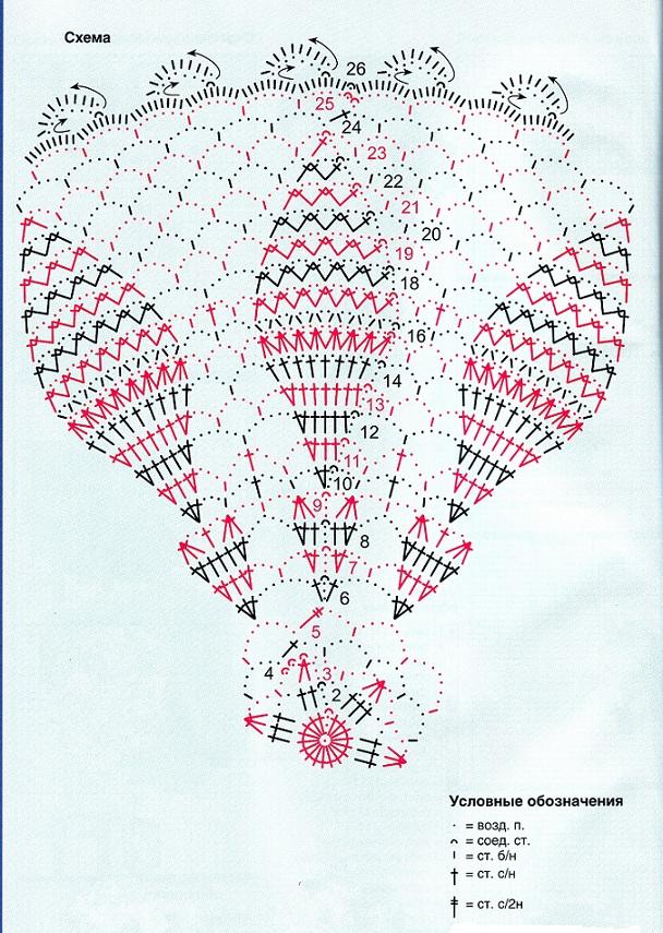 Схема салфетки цвета экрю