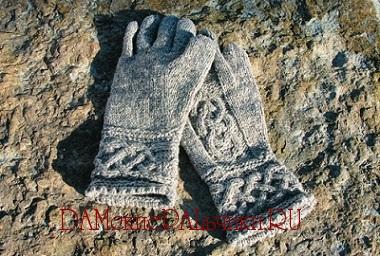 перчатки вязанные спицами схемы