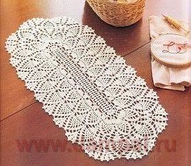 уроки вязания вязание салфеток овальных крючком схемы описание