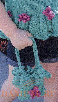 детская вязаная сумочка для девочки