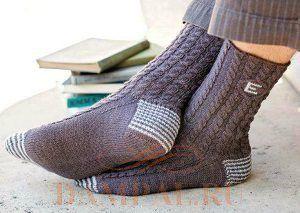 вязанные мужские носки