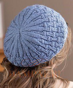 простая вязаная шапка