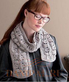 женский шарф вязаный спицами. простой вязаный шарф