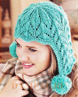 женская шапочка с ушками