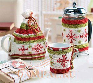 грелки на чайник и чашку