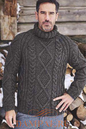 Теплый мужской свитер «Vosges»