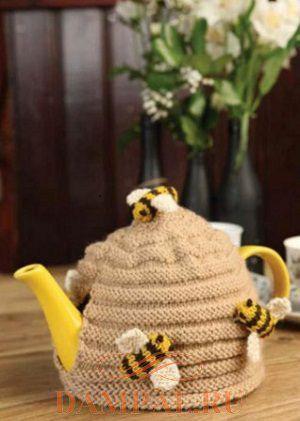 грелка на чайник спицами