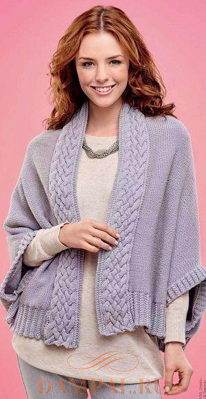 вязаное кимоно спицами