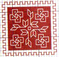 Схема вышивки крестом бискорню