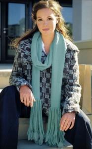 Женский шарф спицами