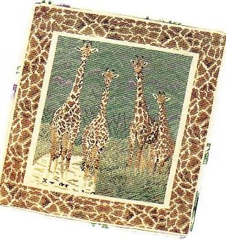 жираф вышивка