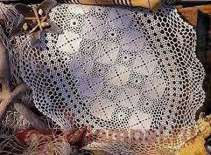 вязаные крючком овальные салфетки