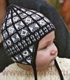 детская зимняя шапочка с ушками