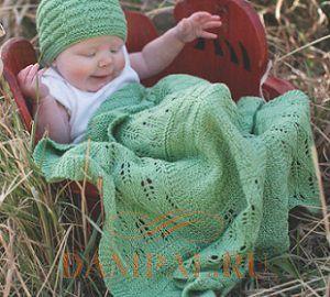 вязаные шапочка и плед для малышей Damские Palьчики Ru