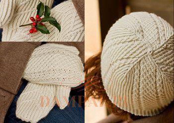 шапка с варежками