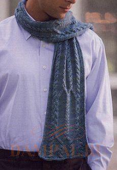 мужской шарф с косами