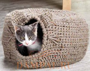 Лежак для кошки схема