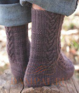 вязаные мужские носки с аранами Damские Palьчики Ru