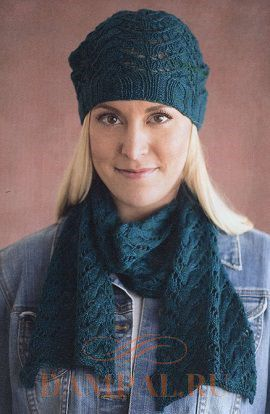вязаные шапка и шарфы