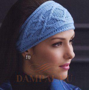 повязка на голову с косами Damские Palьчики Ru