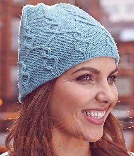 шапка с аранами спицами