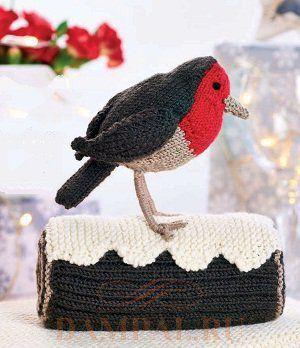 вязаная птица
