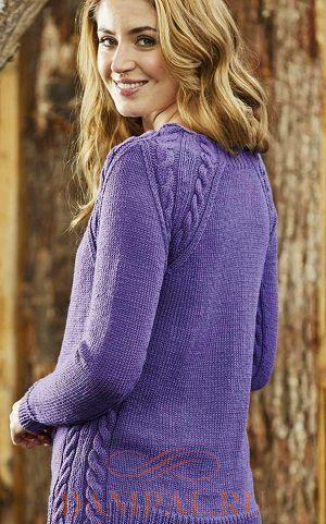 пуловер реглан спицами