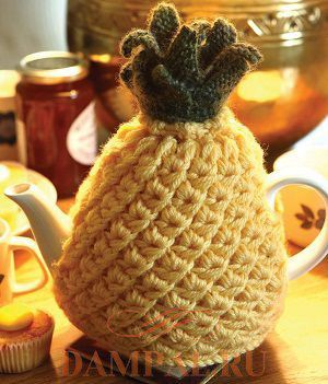 грелка для чайника спицами