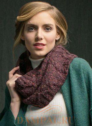 вязаный шарф-снуд