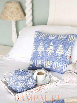 Новогодняя подушка и грелка для чайника