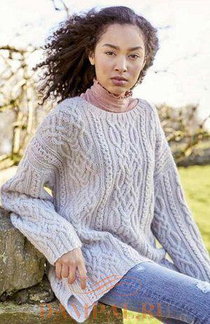 Женский вязаный свитер «Sykes»