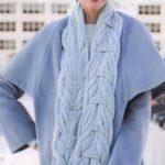 теплый вязаный шарф
