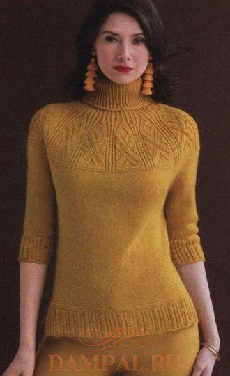 0c961008a52d Пуловер «Crown Jewels» (Вязание спицами)