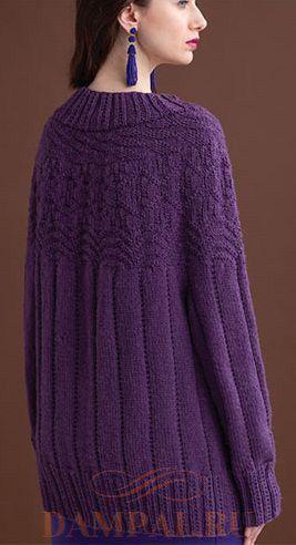 Женский пуловер с текстурным рисунком