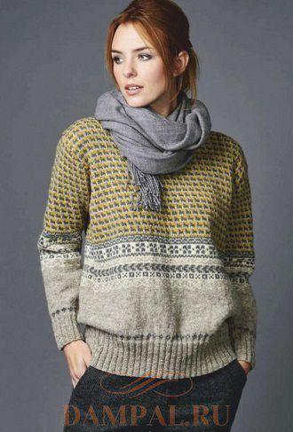 Вязаный пуловер «Каретник»