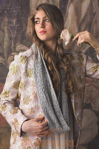 ажурный шарф-снуд