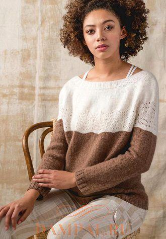 Женский пуловер «Пляжная бухта»
