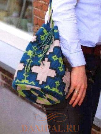 Вязаная сумка «Azulejo»