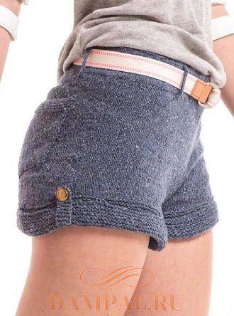 вязаные женские шорты