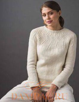 Белый пуловер «Undulating Lines»
