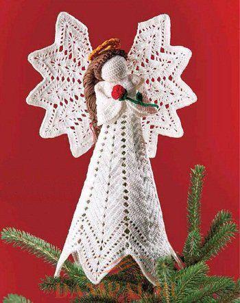 Вязаная игрушка «Рождественский ангел»