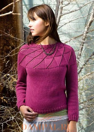 Пуловер с круглой кокеткой «Counterfort»