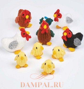 Петух и курочки с цыплятами