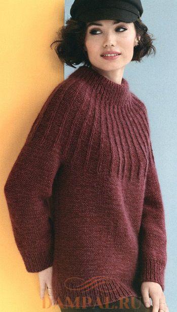 свитер с круглой кокеткой
