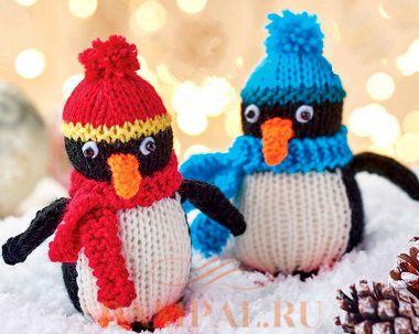 вязаные пингвины